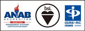 ISO/IEC27001:2013 / JIS Q 27001:2014の認証ロゴ